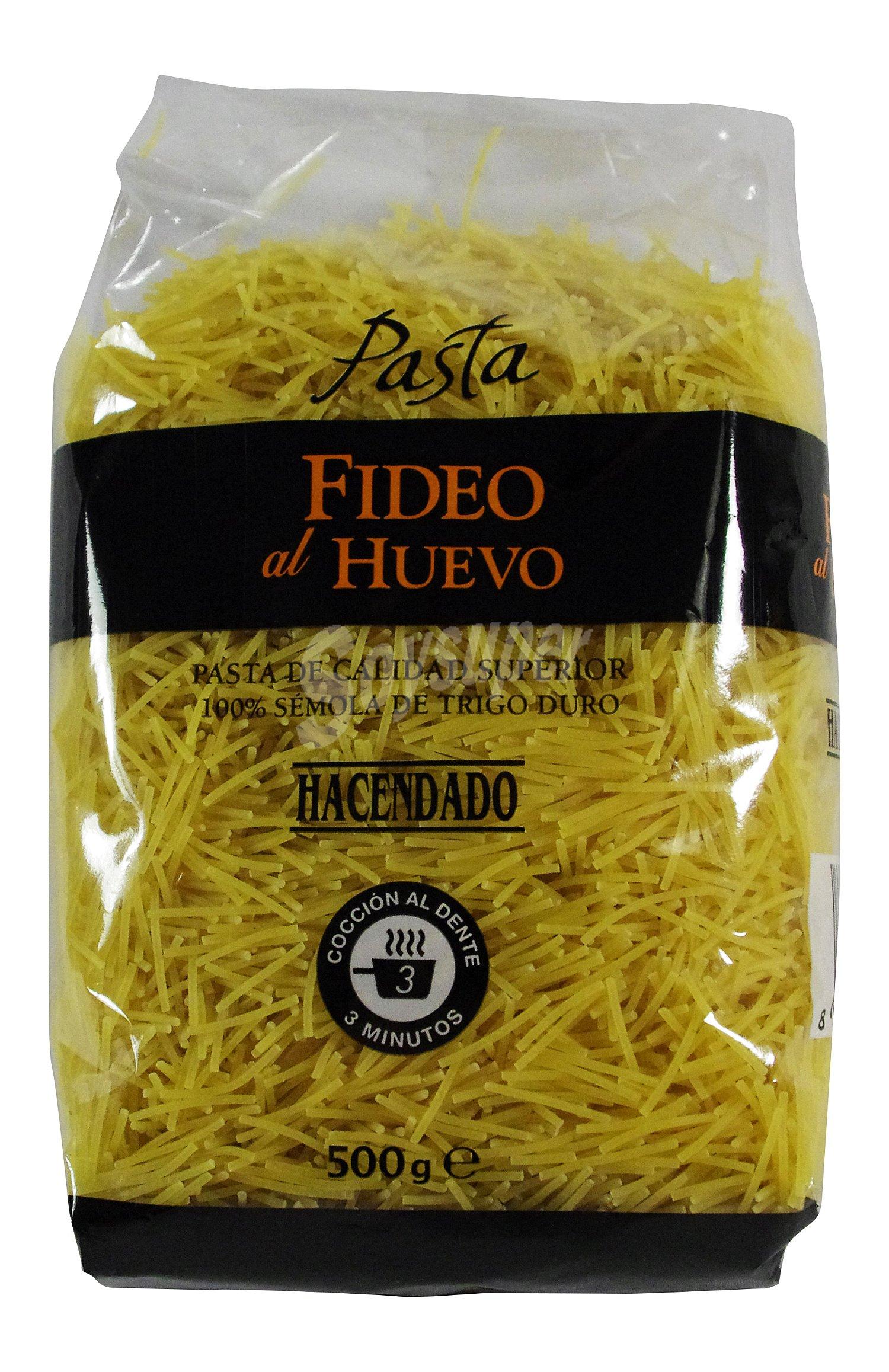 Hacendado fideo al huevo pasta paquete 500 g for Pasta para quitar gotele precio