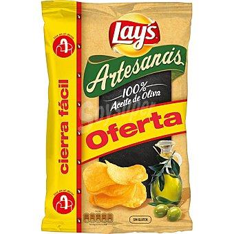 LAY'S Artesanas Patatas fritas en aceite de oliva bolsa 220 g Bolsa 220 g