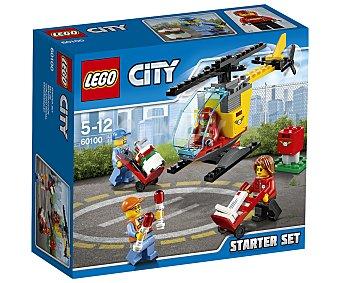 LEGO City Juego de construcciones de 81 piezas Set de introducción Aeropuerto, modelo 60100, serie City lego