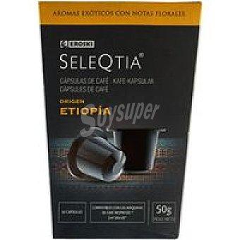 Eroski Seleqtia Café Etiopía Caja 10 monodosis