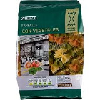 Eroski Farfalle con vegetales Paquete 500 g