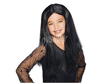 HAUNTED HOUSE Peluca infantil color negro para disfraz de bruja, Halloween Peluca bruja infantil