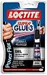 Super Glue-3 pegamento Power Flex gel universal instantáneo fuerte preciso y flexible Tubo 3 g Loctite