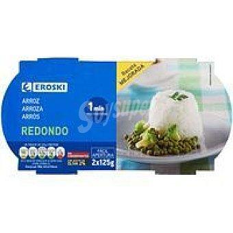 Eroski Vasito de arroz redondo Pack 2x125 g