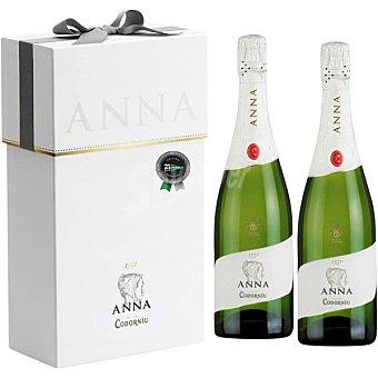 Anna de Codorníu Cava brut reserva estuche metálico 2 botellas 75 cl