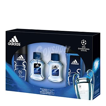 Adidas Estuche colonia uefa spray 50 ml. + after shave 50 ml. + gel ducha 250 ml. + desodorante 150 ml. 1 ud