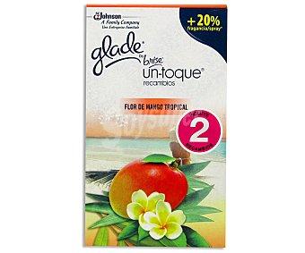GLADE de Brise UN TOQUE Recambio mini spray esencia de flor de mango 2 unidades