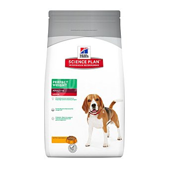 Hill's Science Plan Pienso para perros adultos razas medianas Hills Science Plan Perfect Weight pollo 2 Kg