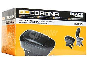 BCCORONA Apoyabrazos de color negro / cromado con compartimento interior 1 unidad