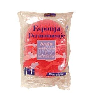 Carrefour Esponja de baño dermomasaje 1 ud