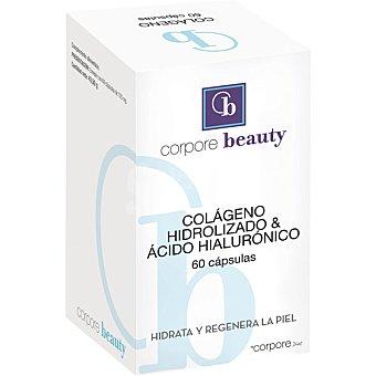 Corpore Beauty Colageno hidrolizado y acido hialuronico hidrata y regenera la piel 60 capsulas caja 84 g 60 capsulas 84 g