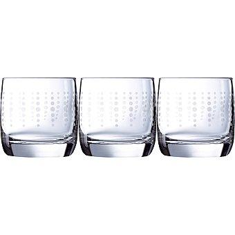 LUMINARC Vigne Funky Dots Vasos de vidrio set de 3 unidades 31 cl