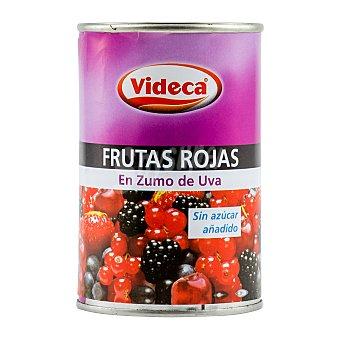 Videca Frutas rojas en zumo uva sin azucar añadido (antioxidante) Bote 300 g escurrido 110 g