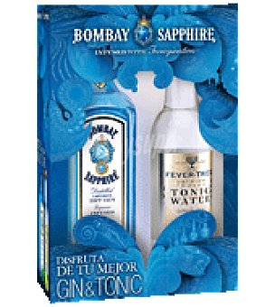 Bombay Gin sapphire 70 cl. + tónica fever tree 50 cl. Pack de 2 botellas