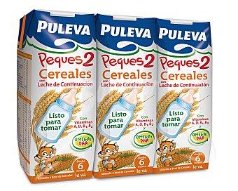 Puleva Leche de continuación Peques 2 - desde los 6 meses Pack 3 envases 250 ml