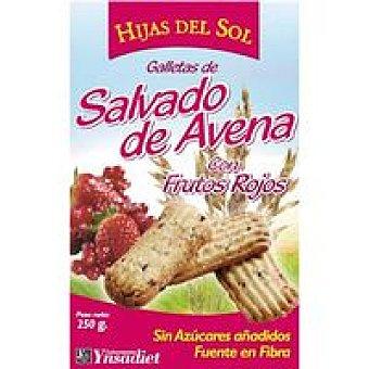 NaturTierra Galleta de salvado de avena con f. rojos Caja 150 g