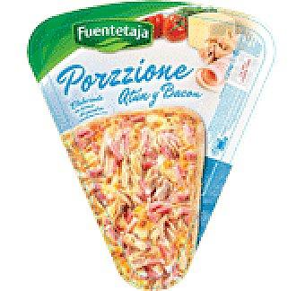 FUENTETAJA PORZZIONE PORCION DE PIZZA ATUN Y BACON 200 GRS