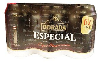 Dorada Cerveza rubia especial Lata pack 6 x 330 cc -1980 cc