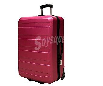 Productos Económicos Alcampo Maleta de 2 ruedas, rígida, color rosa Medidas: 70x49x29