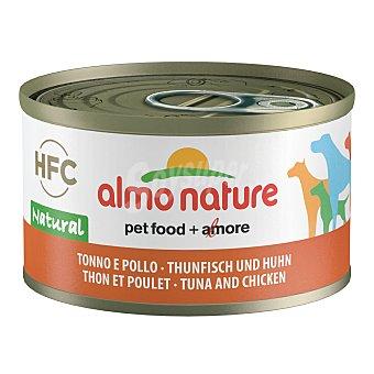 Almo Nature HFC natural alimento húmedo para perros adultos con atún y pollo Envase 95 g