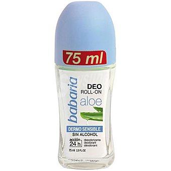 Babaria Desodorante roll on Aloe Dermo Sensible sin alcohol Envase 75 ml