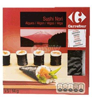 Carrefour Sushi Nori receta japonesa Pack de 5x14 g