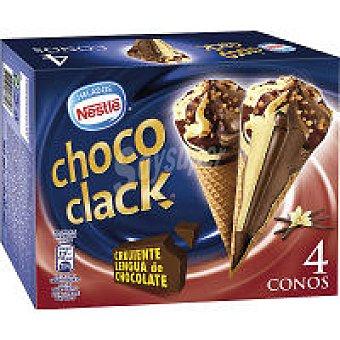 Helados Nestlé Cono Chococlack P-4 Pack-4