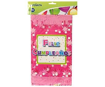 NV CORPORACION Piñata color rosa, diseño feliz cumpleaños 1 Unidad