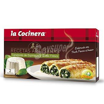 La Cocinera Canelones de espinacas y queso fresco Caja 530 g