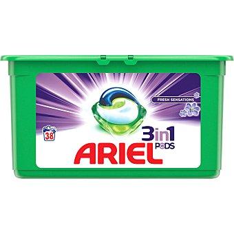 Ariel Detergente máquina líquido 3 en 1 Pods Frescor Primavera ápsulas envase 38 c