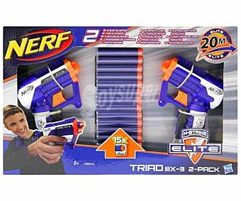 NERF Pack de 2 Lanzadores de Dardos Elite Triad 2 1 Unidad