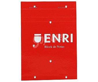 Enri Bloc de notas grapado, con 80 hojas de , cuadrícula de 4x4 mm y tapa blanda de color rojo enri 60 g