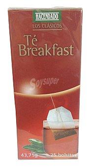 Hacendado Infusion te english breakfast 25 bolsitas - 43,75 gramos