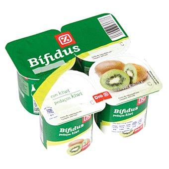 DIA Yogur bífidus con kiwi pack 4 unidades 125 g Pack 4 unidades 125 g