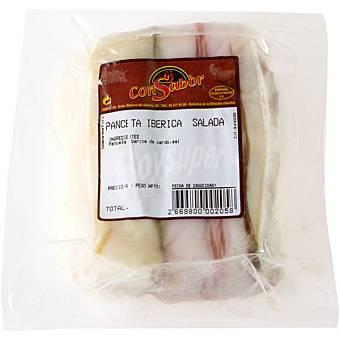 CONSABOR Panceta ibérica salada peso aproximado Bandeja 350 g