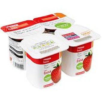 Eroski Basic Yogur de fresa Pack 4x125 g