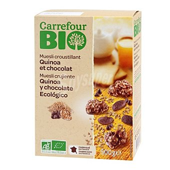 Carrefour Bio Muesli quínoa y chocolate 500 g