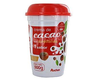 Auchan Crema de cacao y avellanas para untar 500 gramos