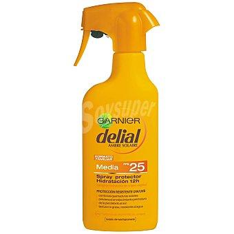 Delial Garnier Locion solar ultra hidratante FP-25 resistente al agua pistola 300 ml 300 ml