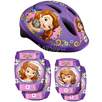 Disney Set casco + protecciones Princesa Sofía 1 Unidad