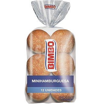 BIMBO Mini hamburguesa Paquete de 260 g (12 unidades)