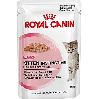 Royal Canin Alimentación completa en trocitos con salsa para gatitos de 4 a 12 meses Instinctive Bolsa 85 g