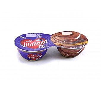 Vitalínea Danone Postre chocolate fondant 0,8% materia grasa Pack 2 unidades 125 g