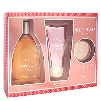 Aire de Sevilla Estuche colonia Bella 150 ml. + body milk + crema de manos 1 ud