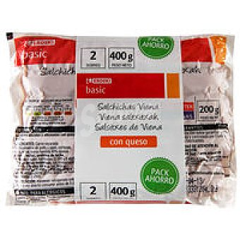 Eroski Basic Salchichas Viena Pack de 2 sobres de 200g