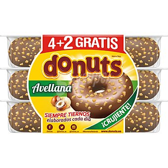DONUTS Donuts Avellana 4 uds Envase 324 g