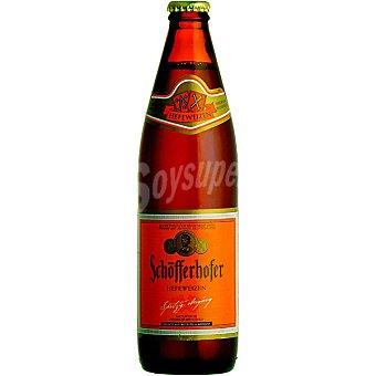 SCHÖFFERHOFER Dunkel Cerveza rubia turbia de trigo alemana Botella 50 cl