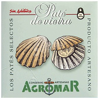 Agromar Paté de vieira Lata 100 g neto escurrido