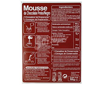 Auchan Mousse de chocolate negro 158 gr