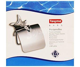 TOYMA Porta rollos cromado con tapa, serie Estrella 1 Unidad